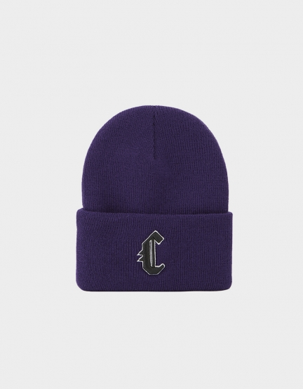CSBL Blackletter Old School Beanie purple/black one size