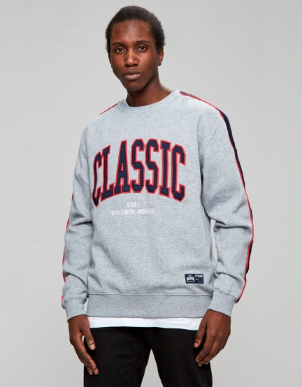 CSBL Worldwide Classic Crewneck grey heather/navy XL