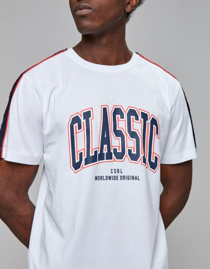 CSBL Worldwide Classic Tee white/navy XL
