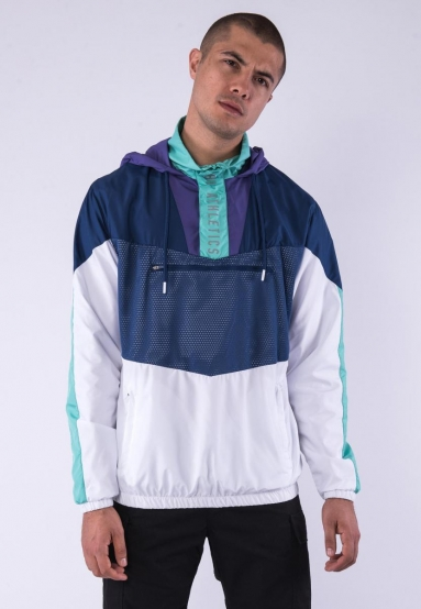 CSBL Insert Half Zip Windbreaker navy/white M