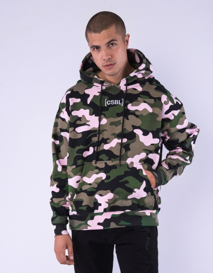 CSBL Brackets Box Hoody woodrose camo/white L