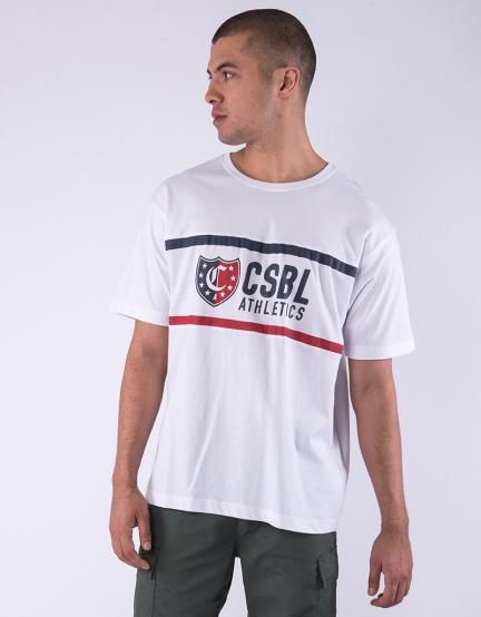 CSBL Insignia Oversized Tee white/red XS