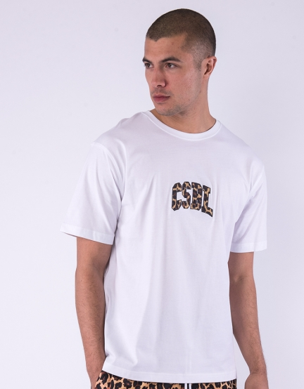 CSBL Quote Semi Box Tee white/leo XS