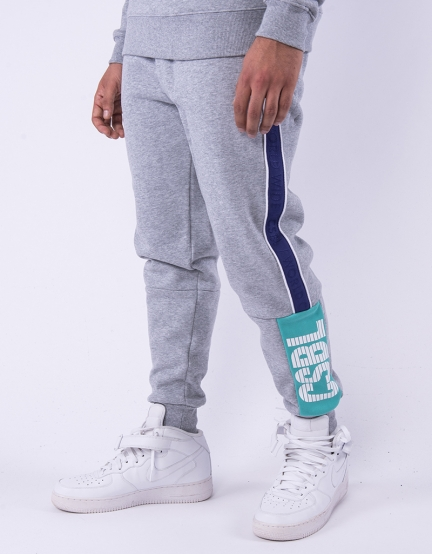 CSBL WCWW Sweatpants heather grey/purple XXL