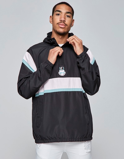 CSBL AOT Half Zip Windbreaker black/mc XXL