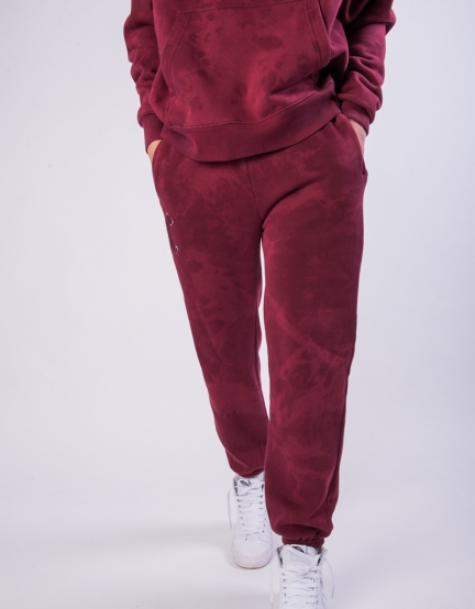 CSBL Blackletter Sweatpants bordeaux tiedye/white L