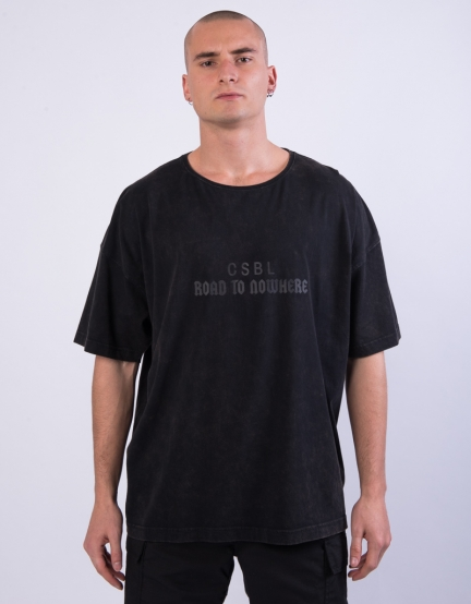 CSBL Framed Box Tee washed black/black XS
