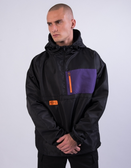 CSBL RTN Box Half Zip Windbreaker black/purple M