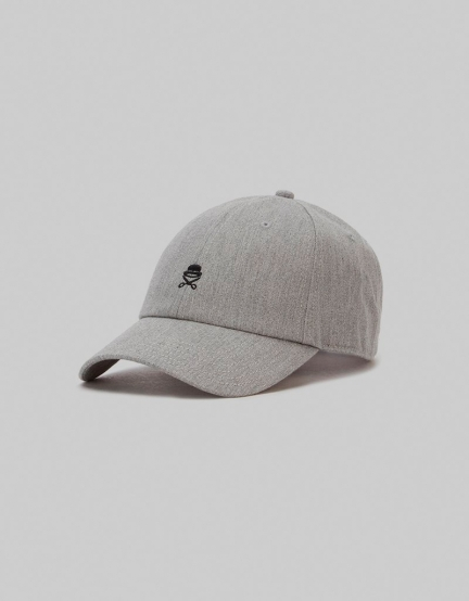 C&S PA Small Icon Curved Cap grey heather/black one