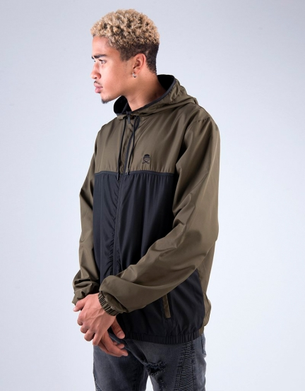 C&S PA Small Icon Windbreaker olive/black M