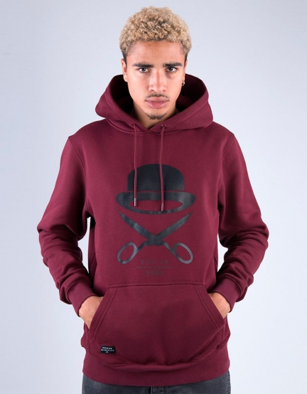 C&S PA Icon Hoody brodeaux/black S