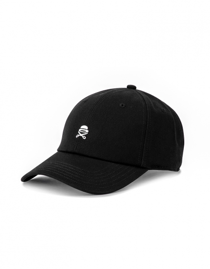 C&S PA Small Icon Curved Cap black/white one