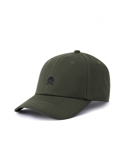 C&S PA Small Icon Curved Cap olive/black one