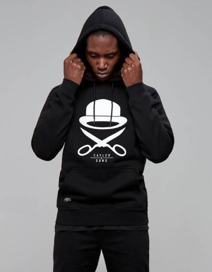 C&S PA Icon Hoody black/white S
