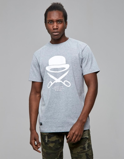 C&S PA Icon Tee grey heather/white M