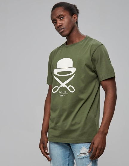 C&S PA Icon Tee olive/white L
