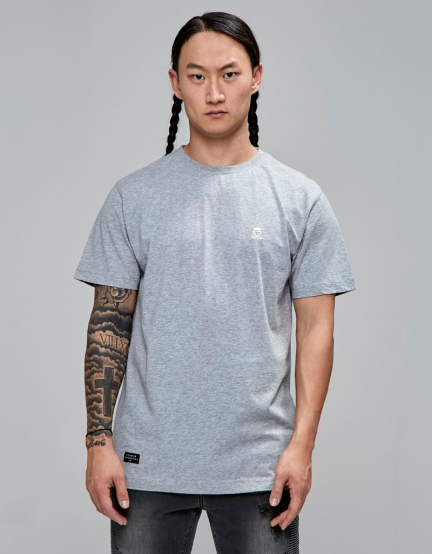 C&S PA Small Icon Tee grey heather/white L