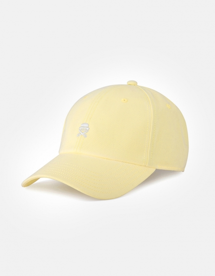 C&S PA Small Icon Curved Cap pale yellow/white one