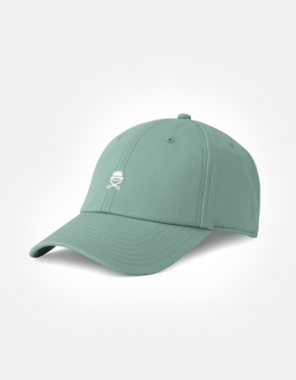 C&S PA Small Icon Curved Cap tidal foam/white one