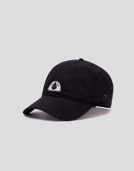 C&S WL All In Curved Cap black/white one