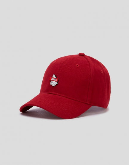 C&S WL Trust Curved Cap bordeaux/white one