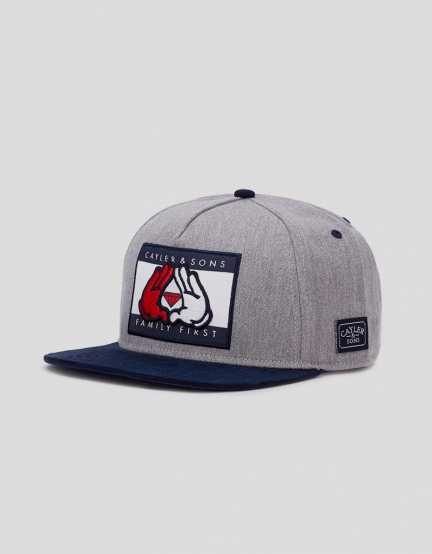 C&S WL First Cap grey heather/navy one