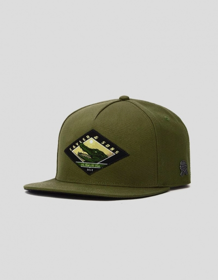 C&S CL Snap Cap olive/mc one