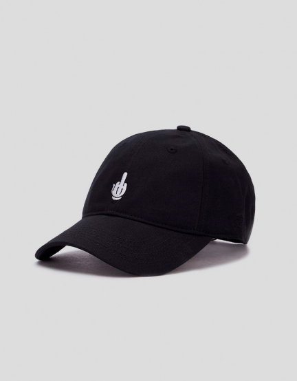 C&S WL Off Curved Cap black/white one