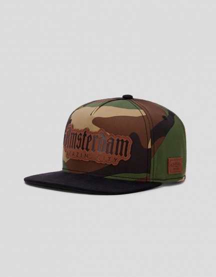 C&S WL Amsterdam Lux Cap woodland/black one