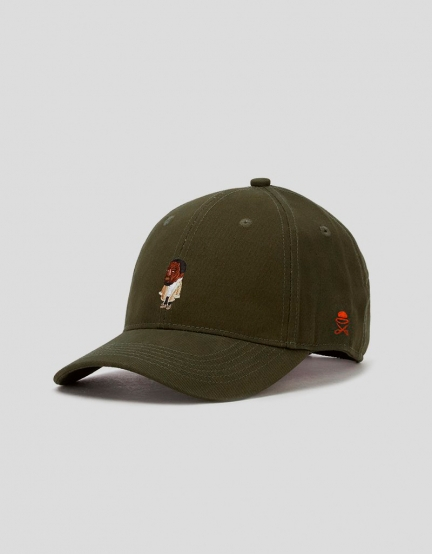 C&S WL Seezn Curved Cap olive/mc one