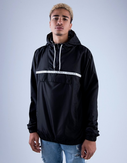 C&S WL Bandanarama Zip Anorak black/white M