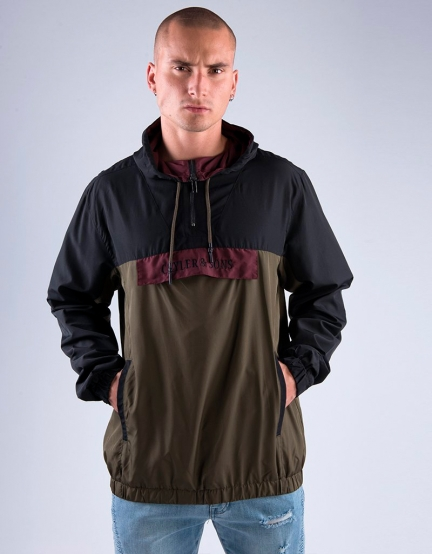 C&S WL Anchored Zip Anorak black/olive L