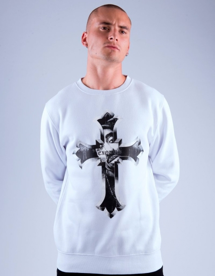 C&S WL EXDS Crewneck white/black M