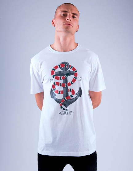 C&S WL Anchored Tee white/mc M