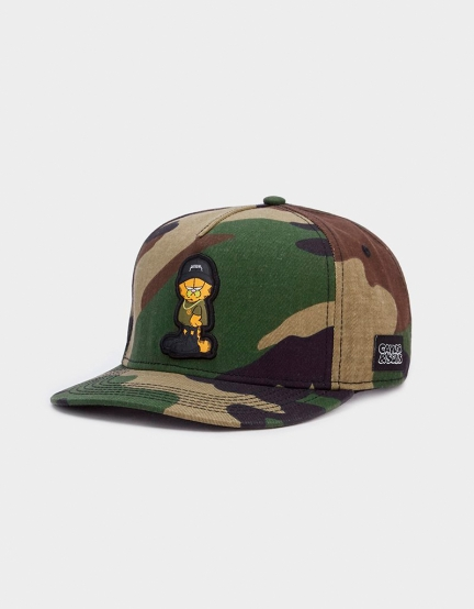 C&S WL Merch Garfield Cap woodland camo/mc one