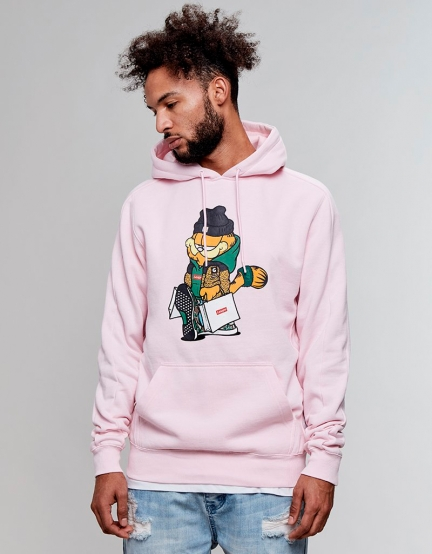 C&S WL Hyped Garfield Hoody pale pink/mc S