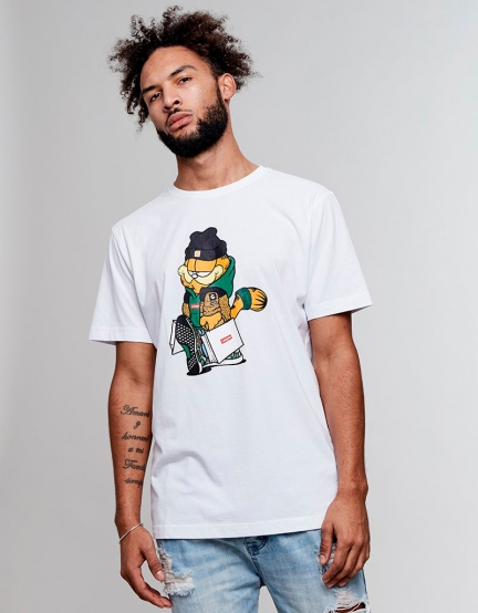 C&S WL Hyped Garfield Tee white/mc M