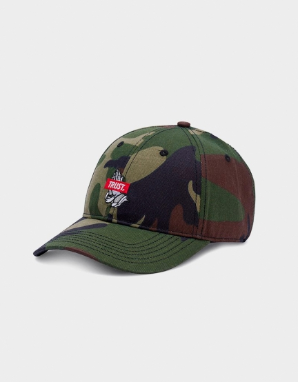 C&S WL Trust Curved Cap woodland/red one