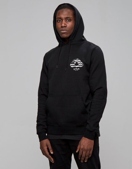 C&S WL BK Hoody black/white M