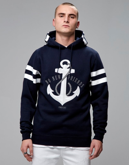 C&S WL Stay Down Hoody navy/white M