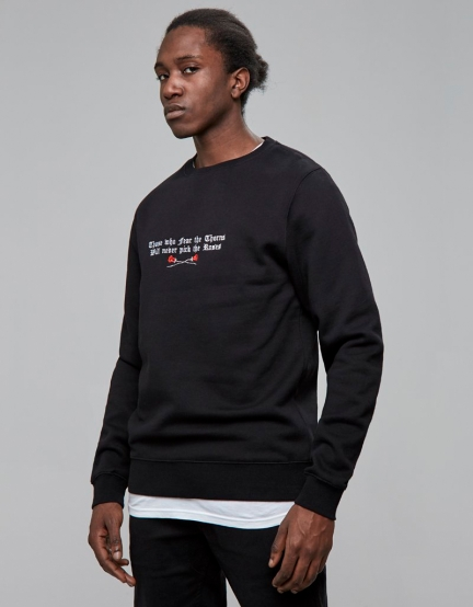 C&S WL Thorns Crewneck black/white M
