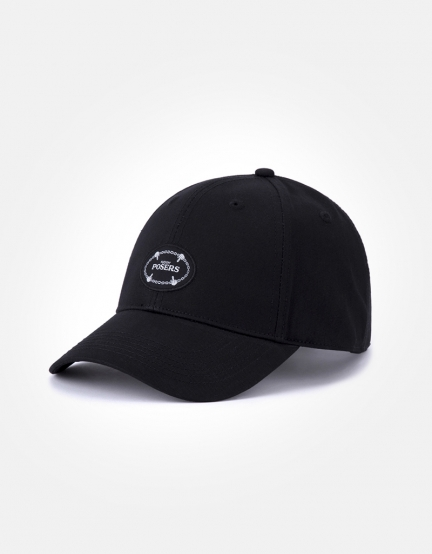 C&S WL Posers Curved Cap black/white one