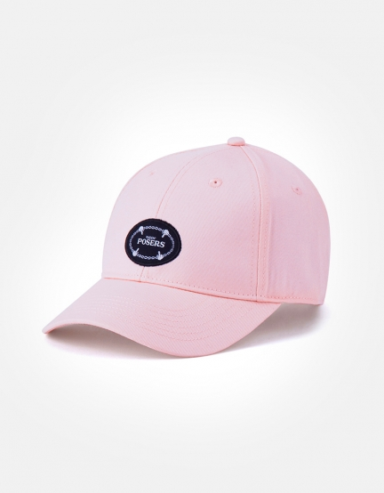 C&S WL Posers Curved Cap pale pink/mc one