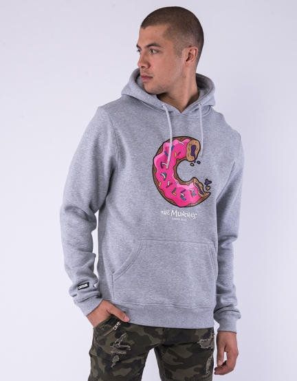 C&S WL Munchos Hoody heather grey/mc XS