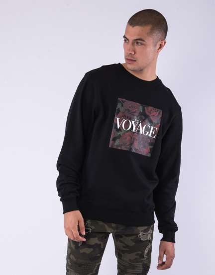 C&S WL Bon Voyage Crewneck black/mc XL