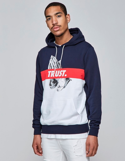 C&S WL Block Trust Hoody navy/white XS