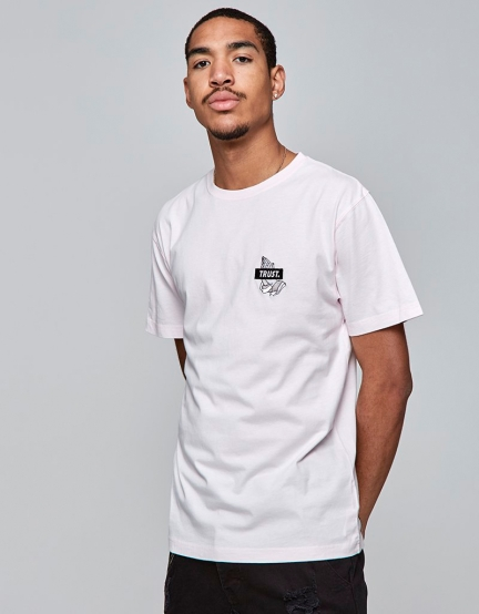 C&S WL Trust Icon Tee pale pink/black L