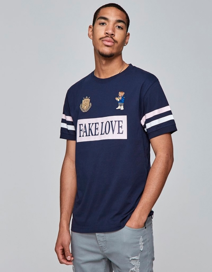 C&S WL Controlla Polo Tee navy/pale pink XL