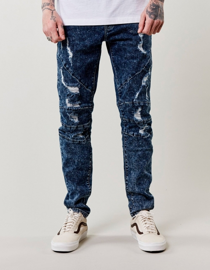 C&S ALLDD Paneled Denim Pants blue 3032