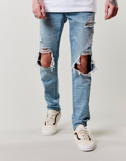 C&S ALLDD Heavy Cut Denim Pants blue 3432